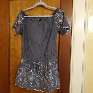 Guess? mini dress. Blue with eyelet detail small